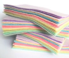 Wool Blend Felt - Pretty Pastels - 9in Squares, 15 sheets - 30% Wool Craft Felt