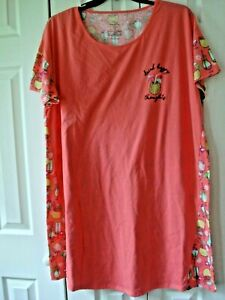 Ladies Nightgown Size 2-3XL (20W-24W) Drink Happy Thoughts
