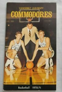 1970-71 Vanderbilt Commodores Basketball Media Guide Yearbook