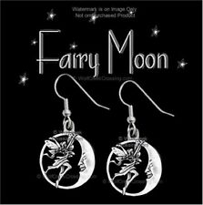 Fairies Moon - Fairy Earrings Fantasy Magical Mythical Gift Jewelry - Free Ship*