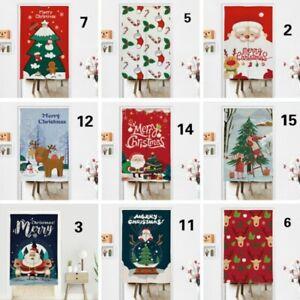 Noren Curtain Christmas Ornament DIY Kitchen Doorway Room Divider Blind Tapestry
