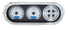1962-65 Chevrolet Nova Chevy II Dakota Digital Silver Alloy & Blue VHX Gauge Kit