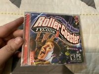 NEW SEALED PC CD-ROM GAME ROLLER COASTER TYCOON 3