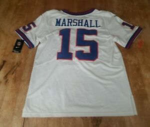 NWT Brandon Marshall #15 New York Giants Nike NFL Onfield White Jersey Size Med.
