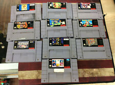lot of 10 Super Nintendo SNES Games Wario's Woods, Sim City, Yoshis