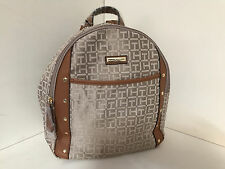NEW ARRIVAL! TOMMY HILFIGER BEIGE KHAKI BROWN SCHOOL TRAVEL BACKPACK BAG $89