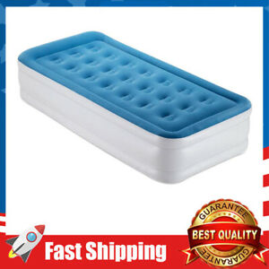 Twin Size Air Mattress Raised Air Bed Blow Up Elevated Inflatable Airbed