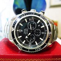 Omega Seamaster Planet Ocean Co-Axial Chronograph Black Dial Men's Watch
