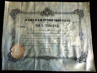 Antico attestato di laurea anno 1906