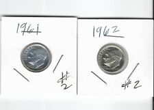 Very Nice pair proof or proof-like 1961-P and 1962-P Roosevelt Silver Dimes