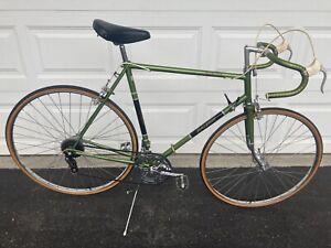 "Vintage '72 Raleigh Grand Prix 23"" Frame Bicycle Bronze Green Original Road Bike"