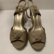 Womens Montego Bay Wedge Sandals Tan Size 13 New.