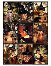 Halloween Brujas sombreros arte alterado-Tarjeta Hacer Toppers ~ Scrapbooking