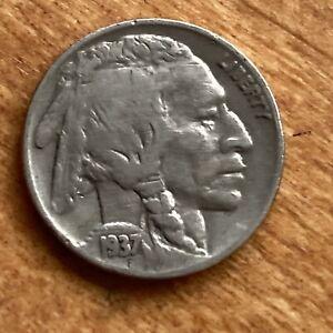 Good+ 1937 Buffalo Nickel Philadelphia Mint - Quantity Discount!