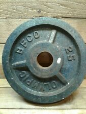 (1) 25 lb pound vintage olympic bfco weight