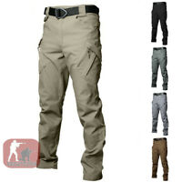 Mens Combat Cargo Pants Army Urban Military Tactical Casual Trousers Hiking IX9