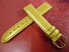 18 mm GOLD / GELB UHRENARMBAND DORNSCHLIEßE ARMBAND LACKLEDER UHRENBAND