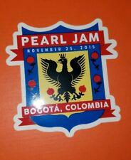 Pearl Jam Vedder sticker Rare Bogota Colombia  2015