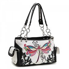 Dragonfly/Butterfly Black Concealed Carry Handbag