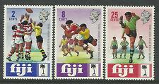 FIJI 1973 RUGBY UNION 60th ANNIVERSARY Set 3  MNH