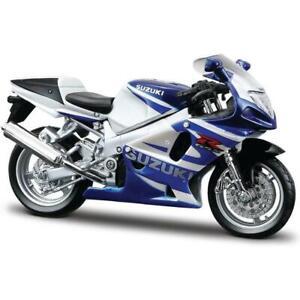 Bburago Suzuki GSX-R750 Blue 1/18 Scale Diecast Bike Model