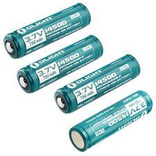 2pcs Olight 14500 Lithium Ionen Akkus geschützt Batterien UC Akku Ladegerät