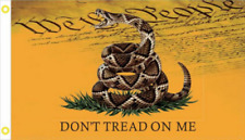 USA LIVE SNAKE GADSDEN DONT TREAD ON ME WE THE PEOPLE FLAG 3X5 FLAGS 68D NYLON