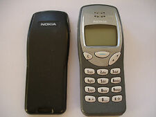 GREY NOKIA 3210 TELEFONO CELLULARE nse-8 Genuine Adattatore 3 MESI DI GARANZIA NO Simlock