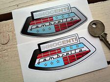 Lambretta Innocenti Scooter Stickers 90mm Pair Li GT GP SX LX TV Classic Vintage
