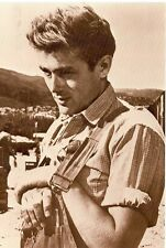 JAMES DEAN IN HIS OVERALLS ON POSTCARD (JD-BX38*)