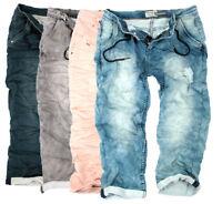 Urban Surface Damen 3/4 sweat Jeans hose Capri Hose Sommer Boyfriend Sweathose