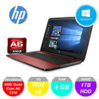 HP PAVILION 15 AMD A6 2.40 GHZ 4GB RAM 1TB RED LAPTOP DVD NOTEBOOK *WARRANTY*