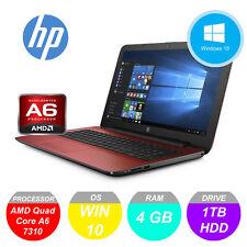 HP Pavilion 15 AMD A6 2.40 GHz 4GB RAM 1TB Rosso Laptop Notebook DVD * GARANZIA *