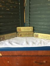 5 Vintage A W Faber Castell Tin Pencil Boxes
