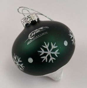"Dale Earnhardt Jr Glass Christmas Ornament Jr Nation 88 Nascar 2.5"" w orig box"