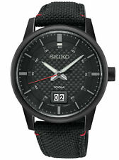 Seiko Neo Black Stainless Steel Mens Quartz Watch SUR271P. 100m WR