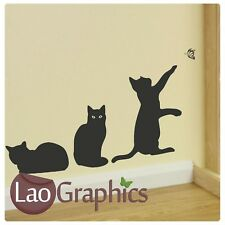 New listingx3 House Cat Wall Stickers Transfer Graphic Decal Kitten Large Home Art Vinyl Uk