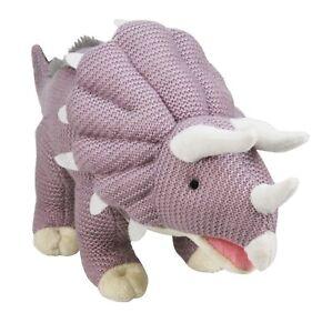 "Palz Knitted Triceratops Dinosaur - Kids Soft Toy - Pale Purple Medium 19""/45cm"