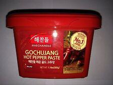 Haechandle Gochujang Hot Pepper Paste, Korean, Level 4 Heat, 1.1 Lbs, 500g Tub
