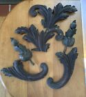 Victorian Carved Mahogany Furniture Embellishments Scroll Appliques & Thistles