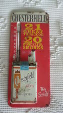 Vintage CHESTERFIELD CIGARETTES Advertising THERMOMETER Old & Original 20 Smokes
