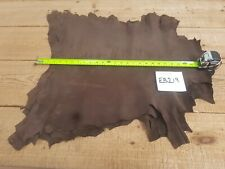 Chocolate Brown Kid Suede Goat Leather 0.6-0.8mm Thick Top Quality Genuine EB219