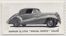 """Vintage Daimler 2 1/2 Litre """"Special Sports"""" Coupe Car 1950s Ad Trade Card"""