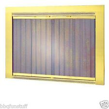 "Portland Traditional II Glass Fireplace Doors Polished Brass Finish 39"" x 27"""