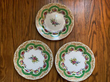 "3 ~ Green Andrea by Sadek 8 1/4"" Plates Sevres Collection Japan"
