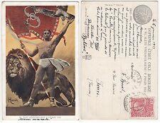 Praze Praha Gladiator m. Löwen Nackter Mann m.Löwe  Male nude  w. lion 1912 Gay