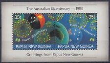 Papua-Neuguinea 1988 ** Bl.3 Feuerwerk Firework Flaggen Flags Globe [sq6001]