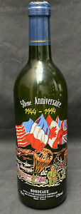 50th Anniversary D-Day Decorated Bottle Of Wine, Bordeaux, 1944-1994