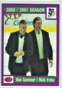 2000-01 Kentucky Thoroughblades (AHL) Roy Sommer/Nick Fotiu