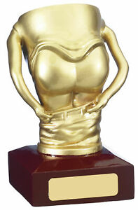 "Comic Mooning Golf Cup Arse Bum Trophy Award 14cm (5.5"") FREE ENGRAVING & P&P"